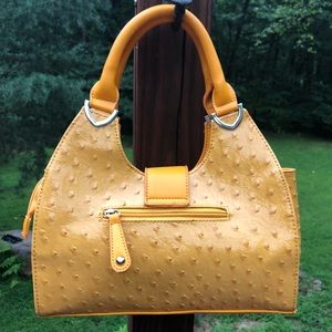 Yellow Handbag w/Shoulder Strap